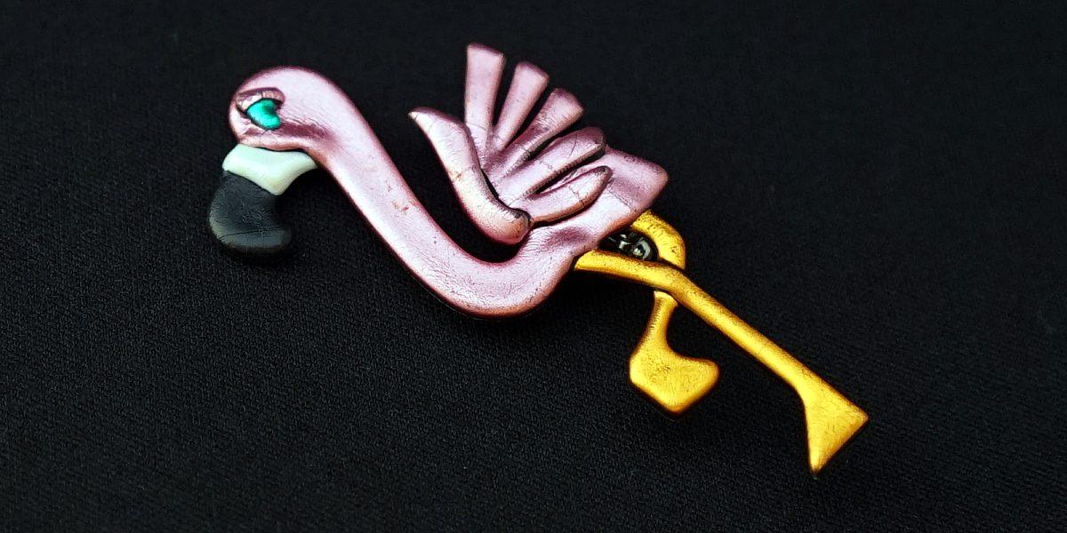 Vintage Flamingo Broach