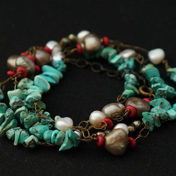 aro-di-lusso original Turquoise Bracelet
