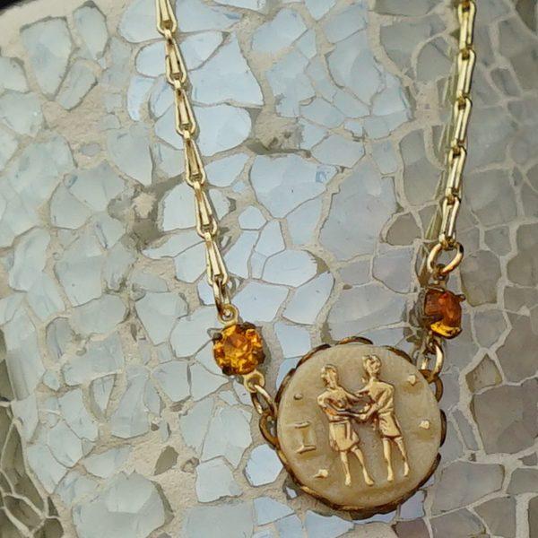 aro-di-lusso original Vintage Gemini Necklace